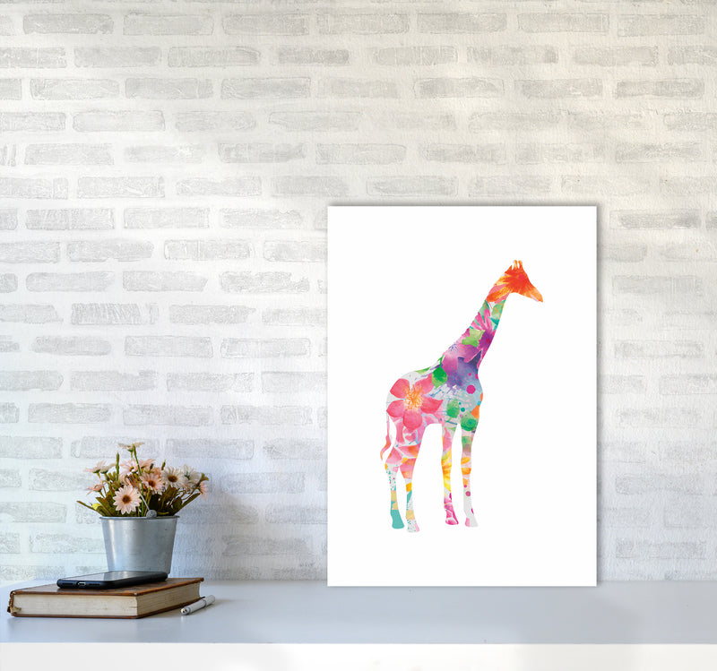 The Floral Giraffe A2 Print Only