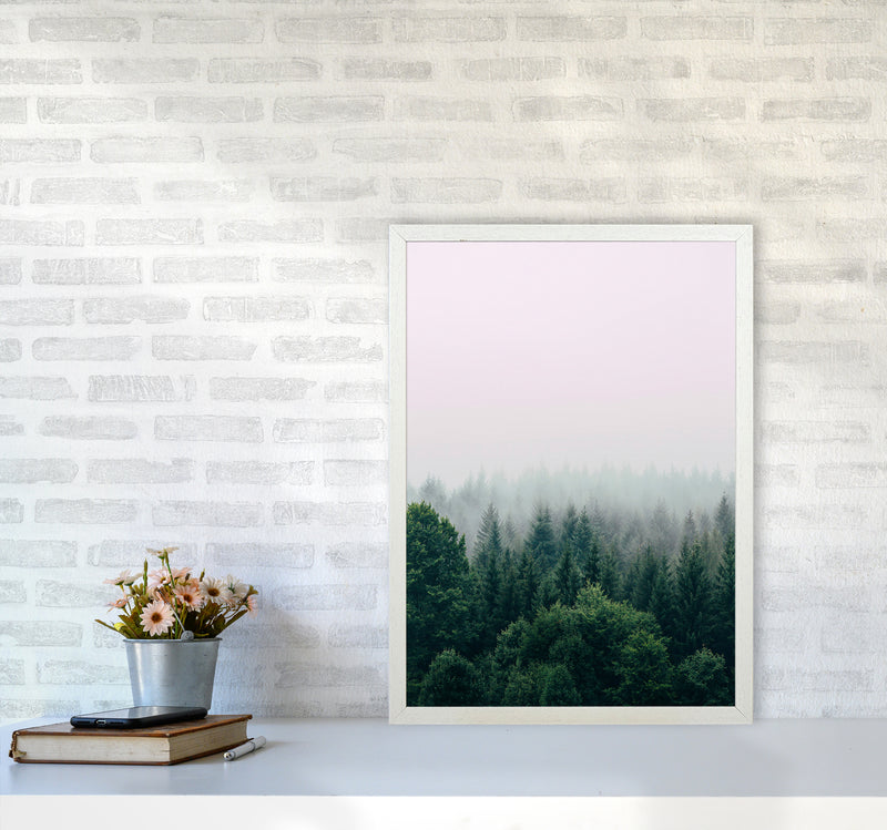 The Fog And The Forest I A2 White Frame