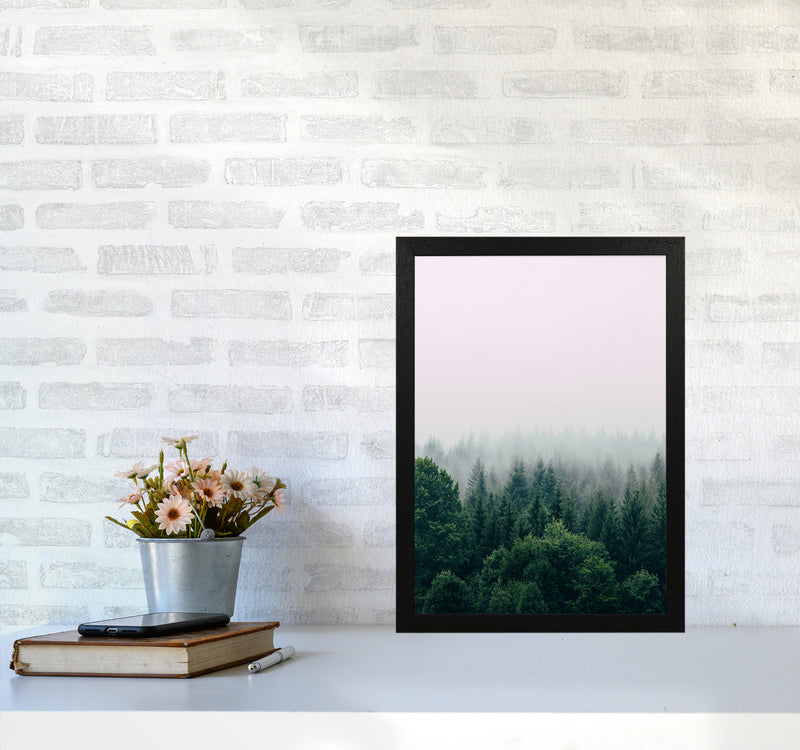 The Fog And The Forest I A3 Black Frame