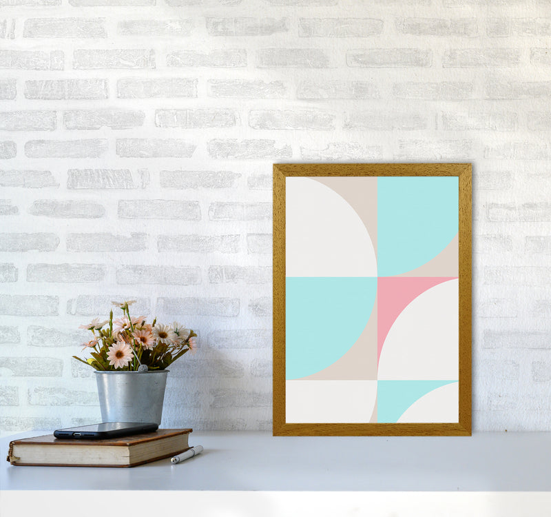 Scandinavian Shapes I A3 Oak Frame