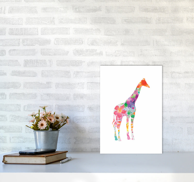 The Floral Giraffe A3 Print Only