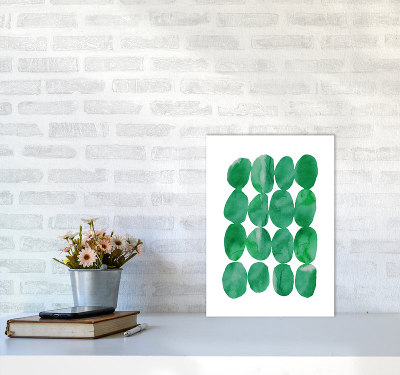 Watercolor Emerald Stones A3 Print Only