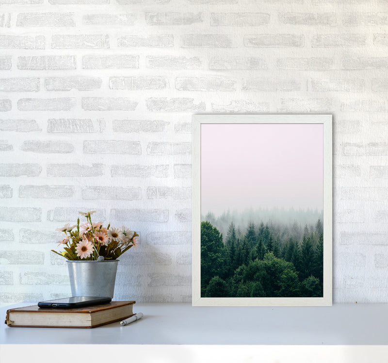 The Fog And The Forest I A3 White Frame