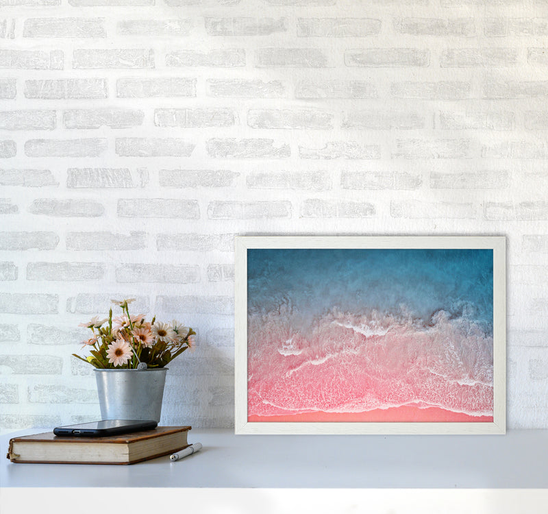 The Pink Ocean A3 White Frame