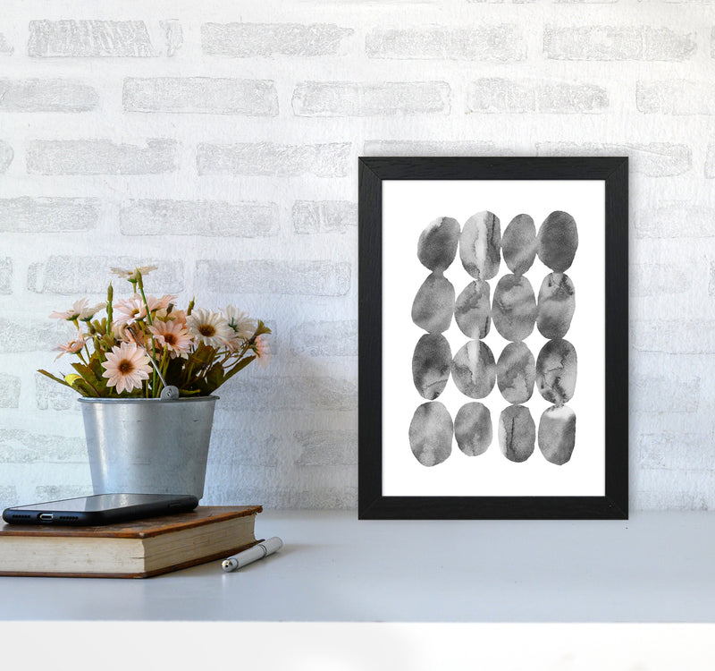 Watercolor Grey Stones Art Print by Seven Trees Design