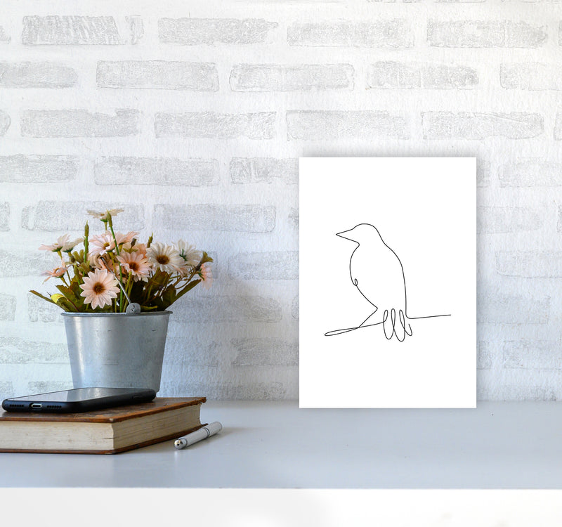 One Line Bird II A4 Print Only
