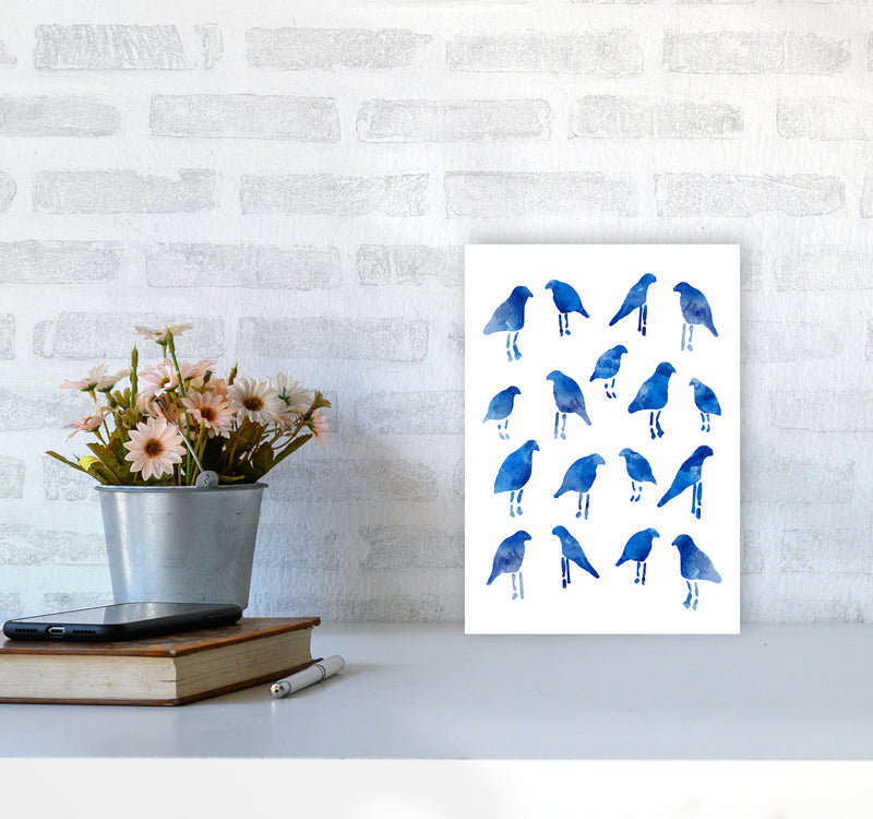 The Blue Birds Art Print by Seven Trees Design