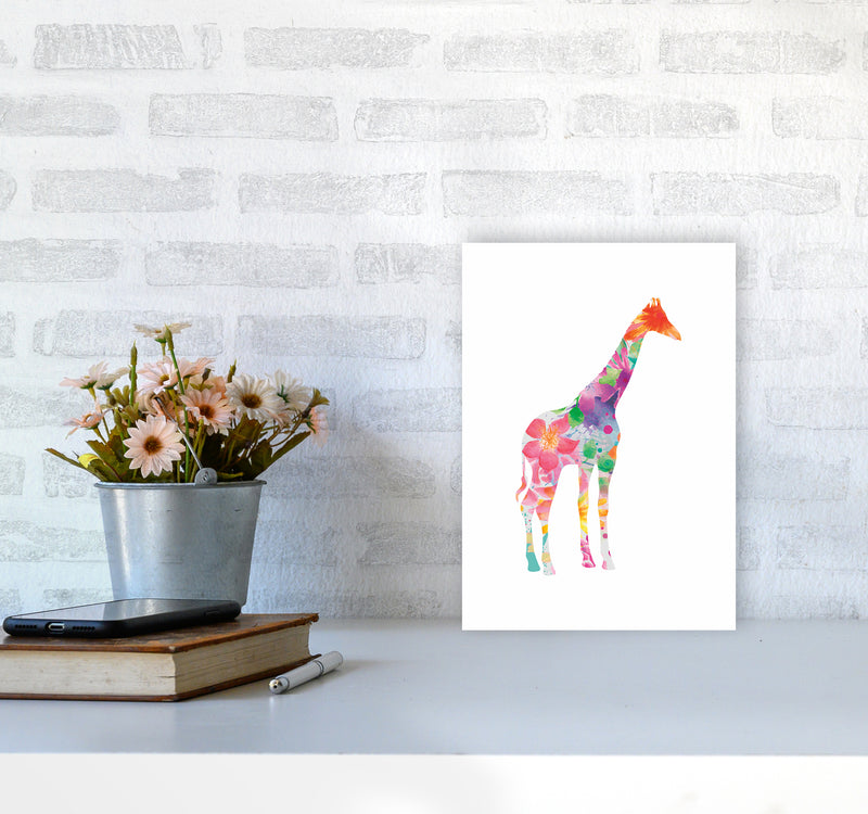 The Floral Giraffe A4 Print Only