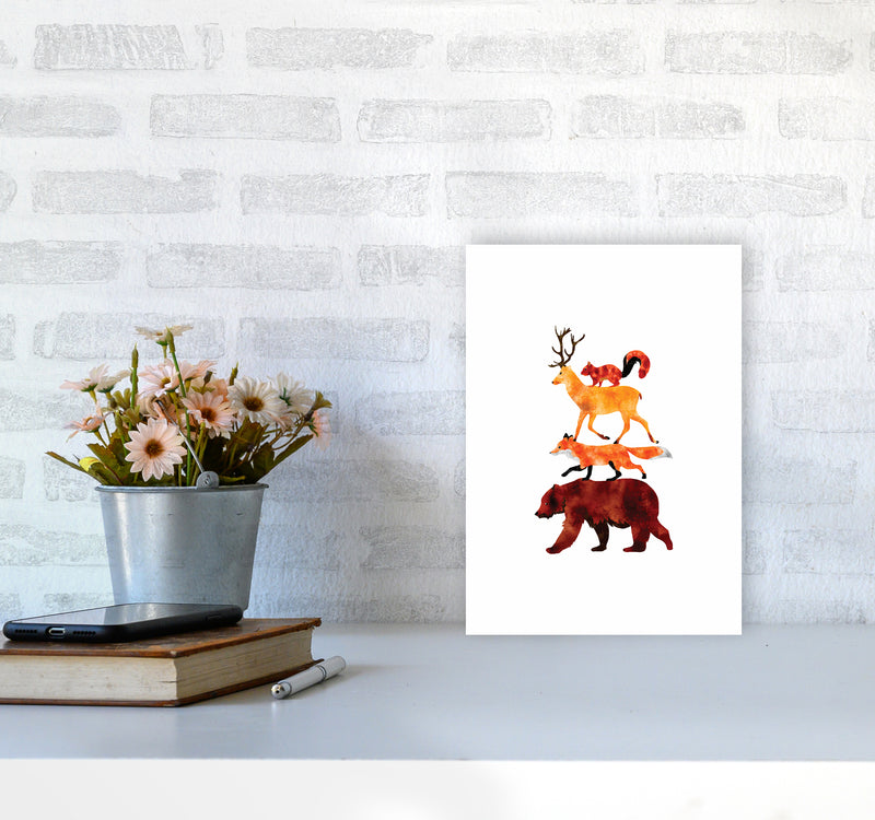 The Forest Friends Childrens Art Print by Seven Trees Design