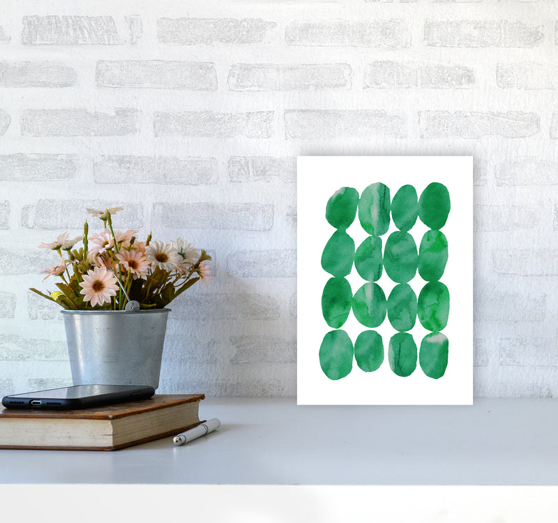 Watercolor Emerald Stones A4 Print Only