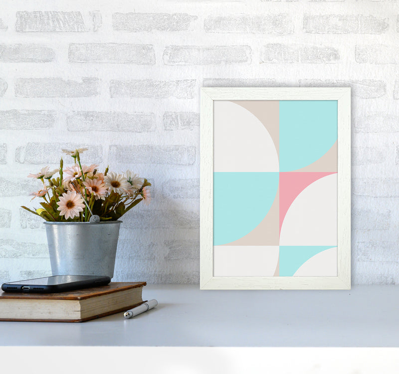 Scandinavian Shapes I A4 White Frame