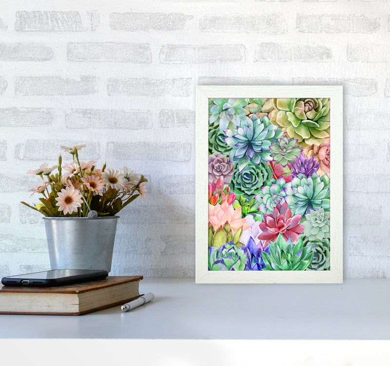 Succulents Paradise Botanical Art Print by Seven Trees Design