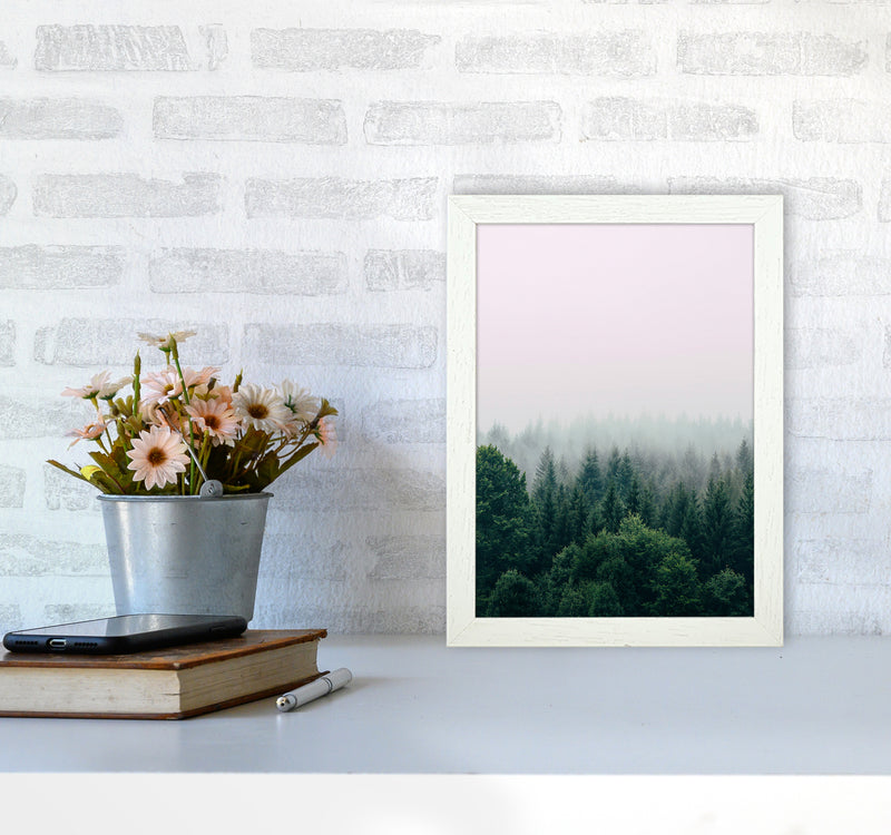 The Fog And The Forest I A4 White Frame