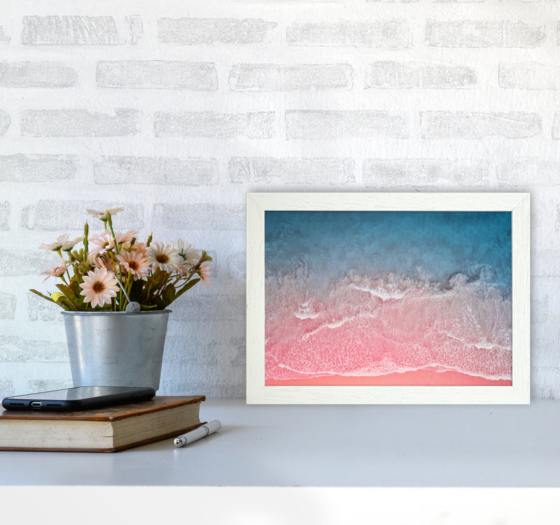 The Pink Ocean A4 White Frame