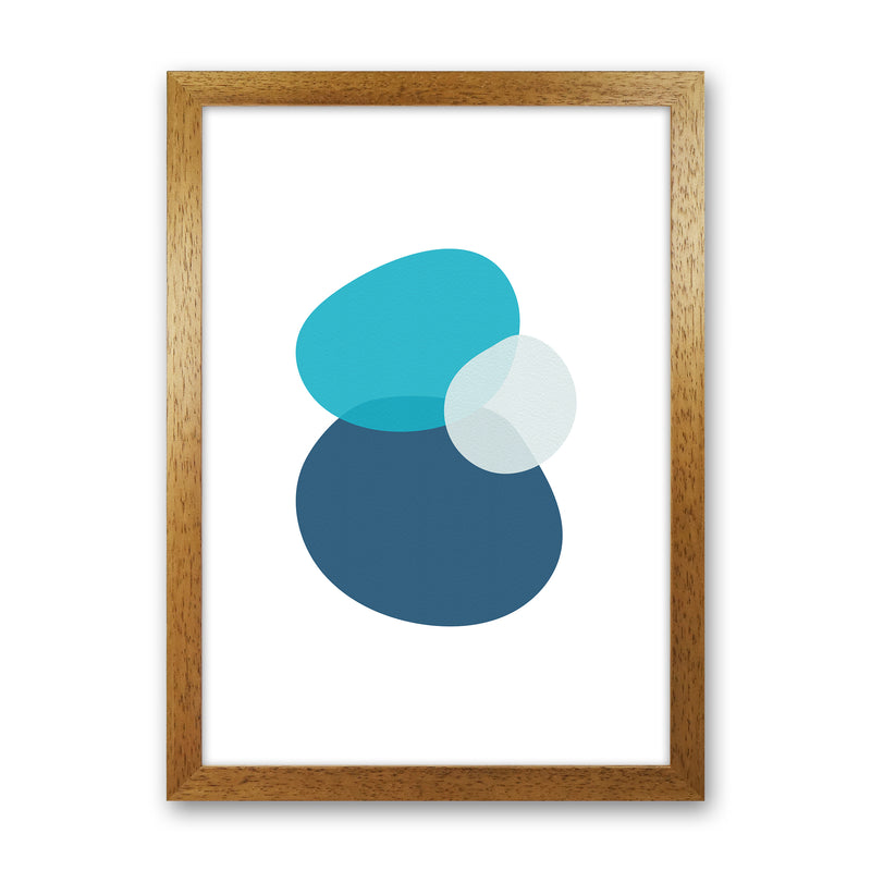 Three Stones Abstract Art Print by Seven Trees Design
