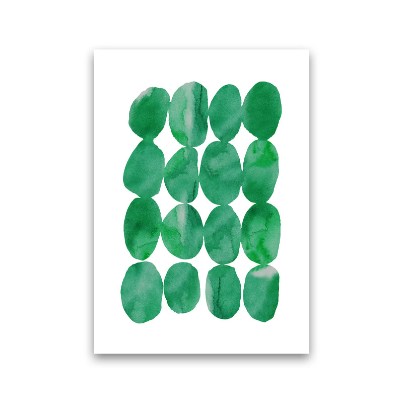 Watercolor Emerald Stones Print Only