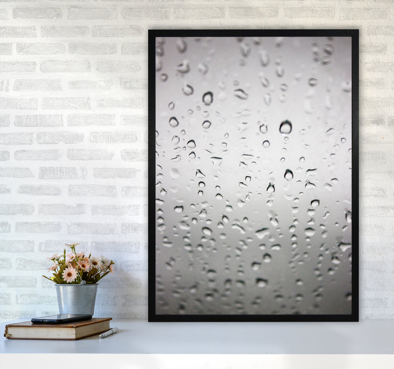 Touch of Rain Photography Print by Victoria Frost A1 White Frame