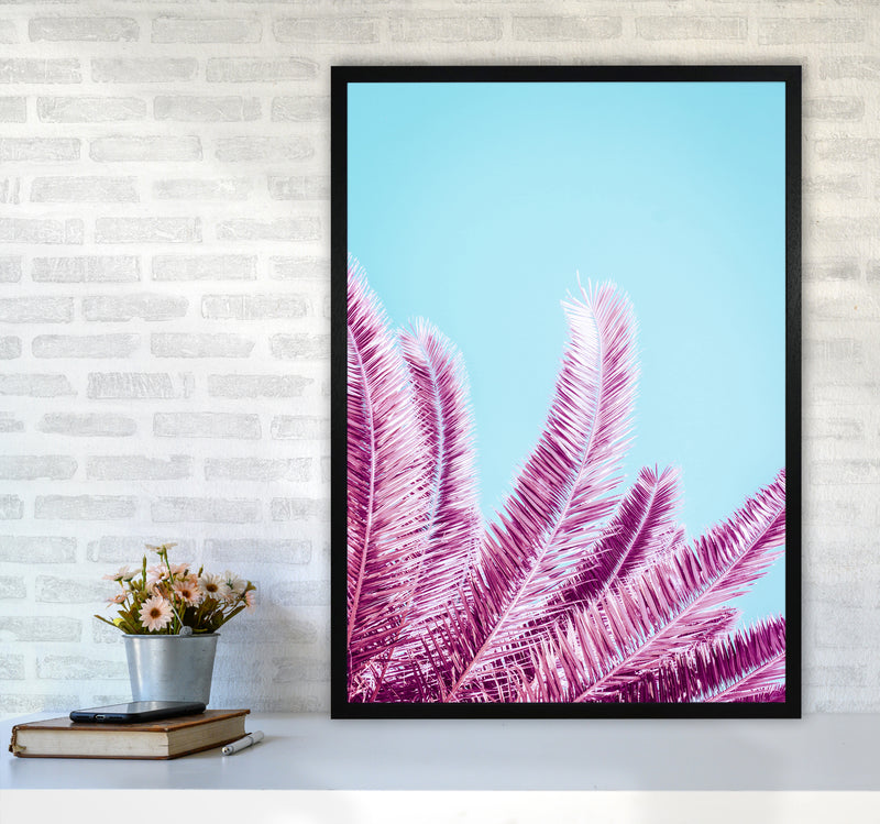 Pink Palm Trees Photography Print by Victoria Frost A1 White Frame