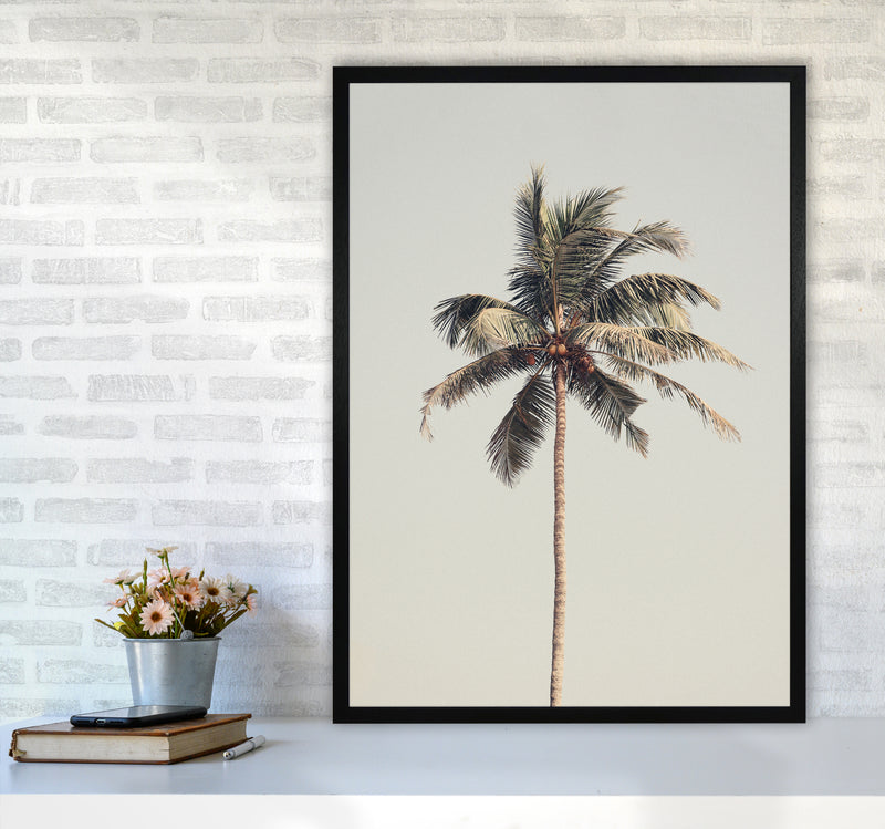 Palm tree by the beach Photography Print by Victoria Frost A1 White Frame