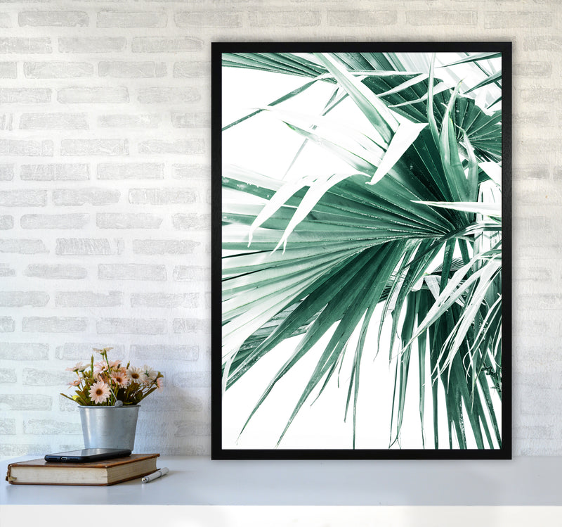 Palm Leaves Photography Print by Victoria Frost A1 White Frame