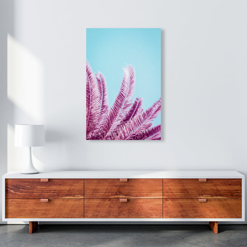 Pink Palm Trees Photography Print by Victoria Frost A1 Canvas