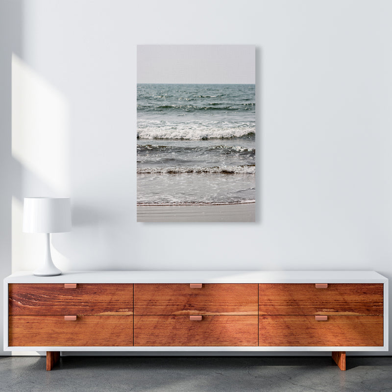 Blue Beach Waves Photography Print by Victoria Frost A1 Canvas
