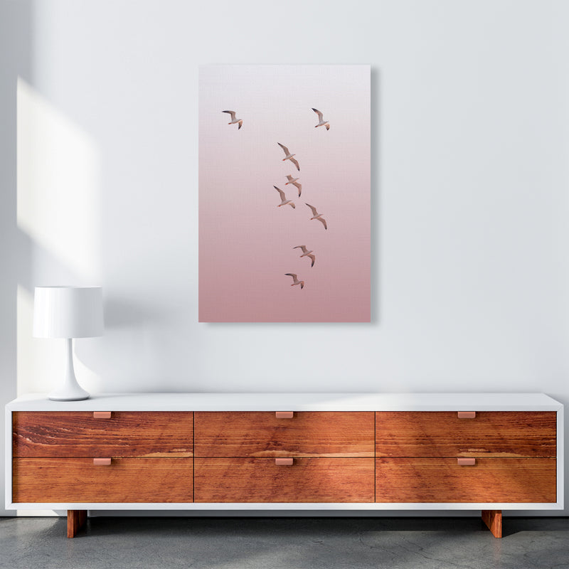 Birds in the Sky-pink Photography Print by Victoria Frost A1 Canvas