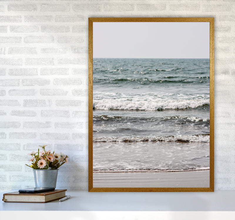 Blue Beach Waves Photography Print by Victoria Frost A1 Print Only