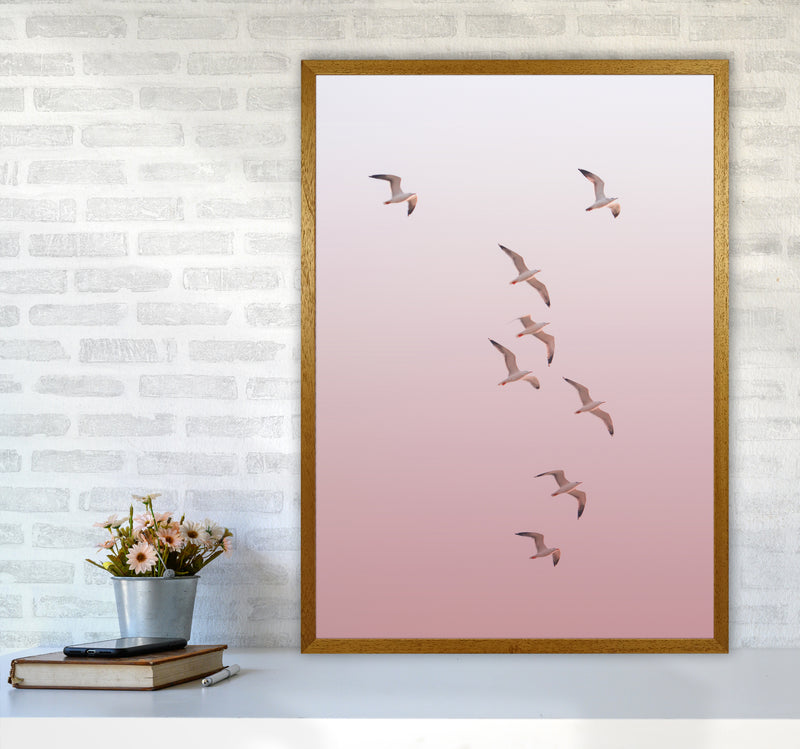 Birds in the Sky-pink Photography Print by Victoria Frost A1 Print Only