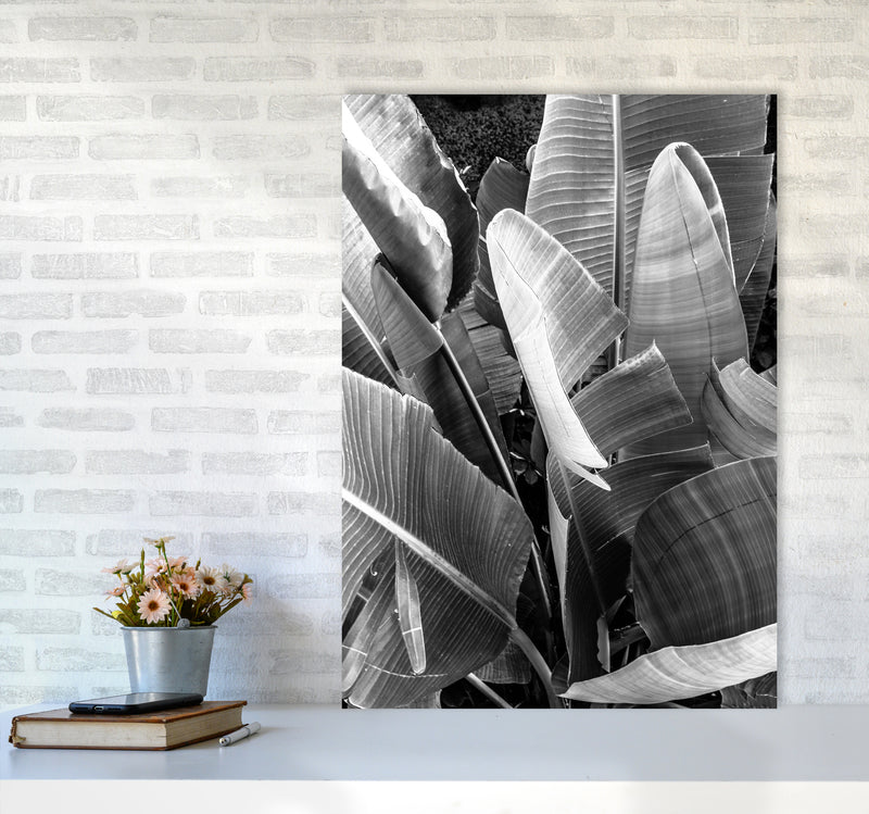 Palms Leafs Photography Print by Victoria Frost A1 Black Frame