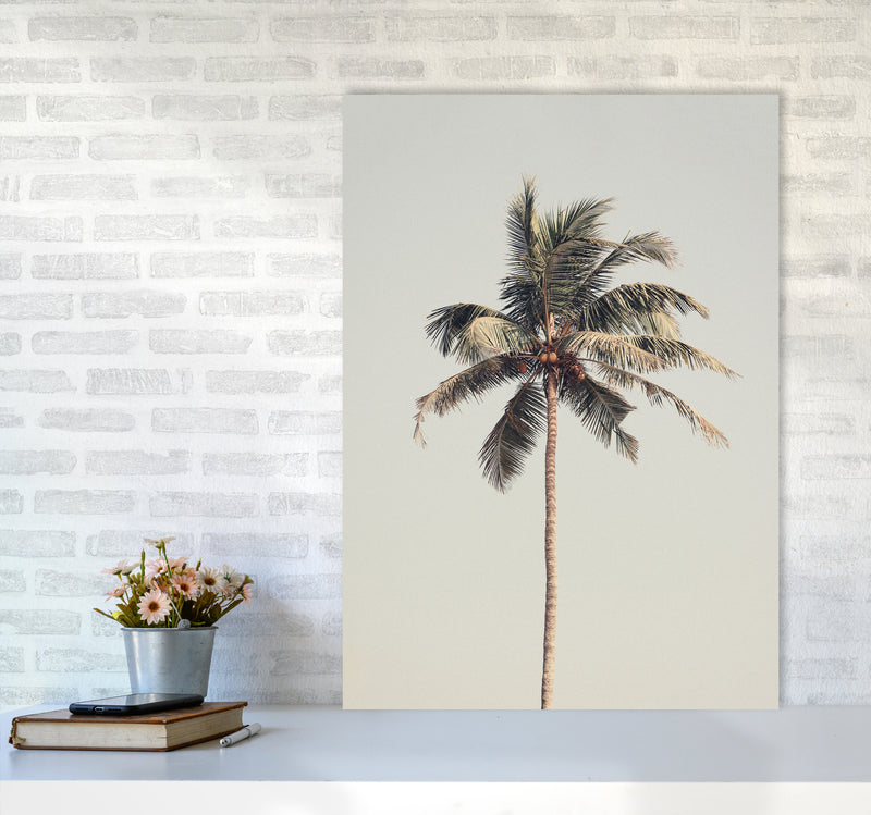 Palm tree by the beach Photography Print by Victoria Frost A1 Black Frame