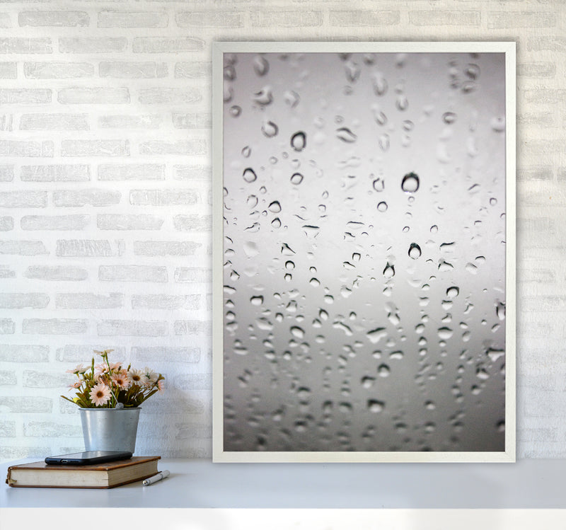 Touch of Rain Photography Print by Victoria Frost A1 Oak Frame
