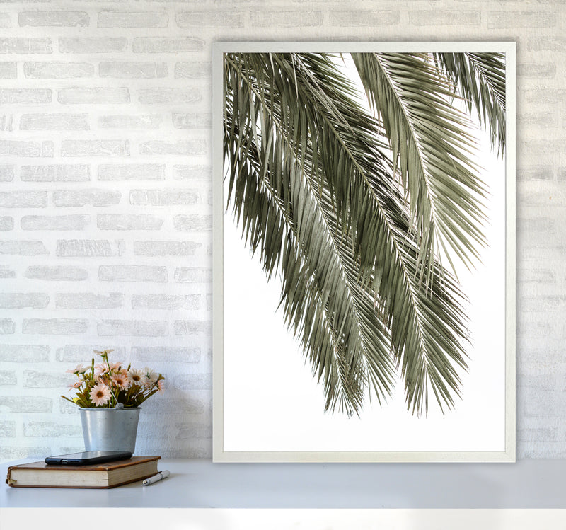 Palms Photography Print by Victoria Frost A1 Oak Frame