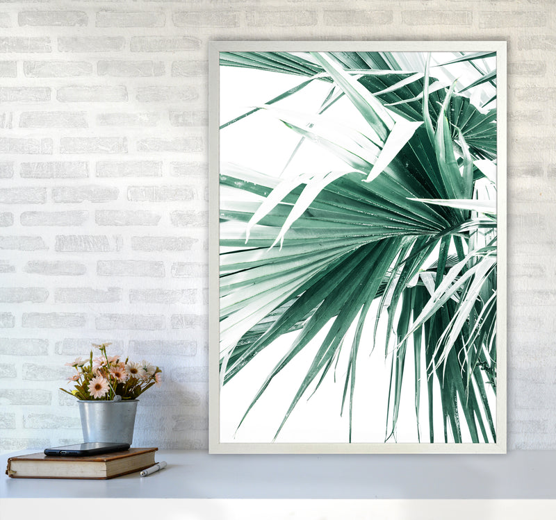Palm Leaves Photography Print by Victoria Frost A1 Oak Frame