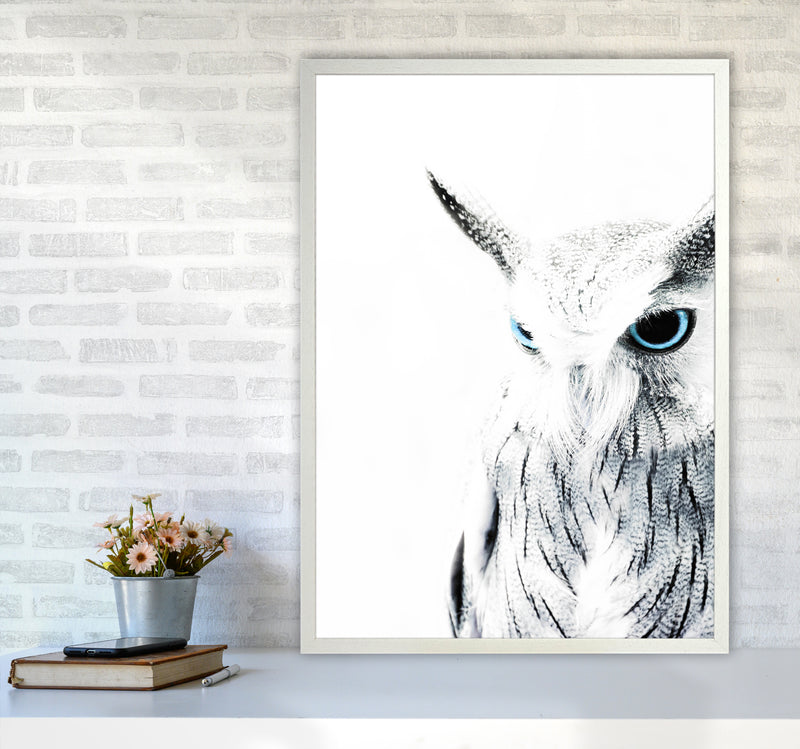 Owl I Photography Print by Victoria Frost A1 Oak Frame