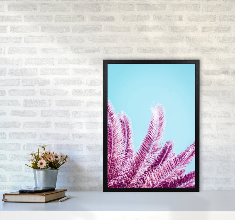 Pink Palm Trees Photography Print by Victoria Frost A2 White Frame
