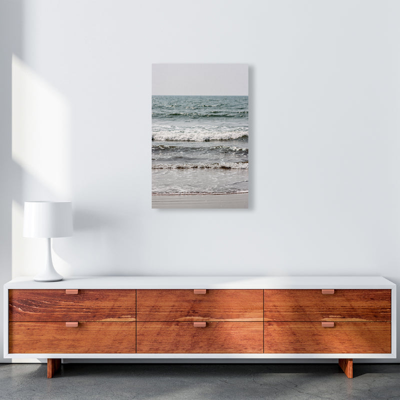 Blue Beach Waves Photography Print by Victoria Frost A2 Canvas