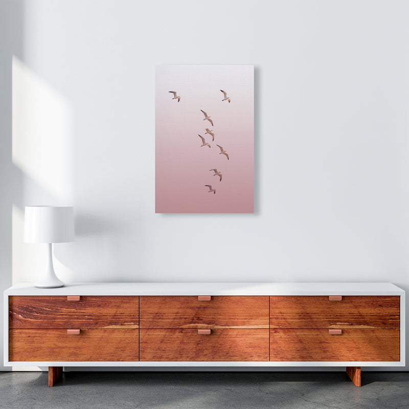 Birds in the Sky-pink Photography Print by Victoria Frost A2 Canvas