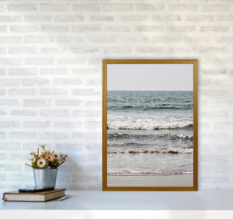 Blue Beach Waves Photography Print by Victoria Frost A2 Print Only