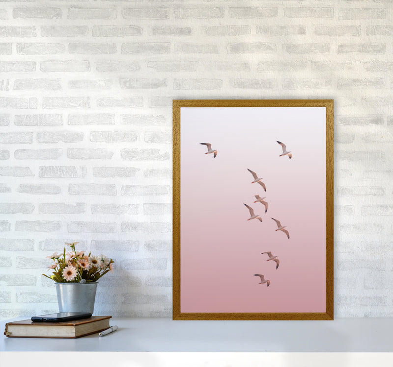 Birds in the Sky-pink Photography Print by Victoria Frost A2 Print Only