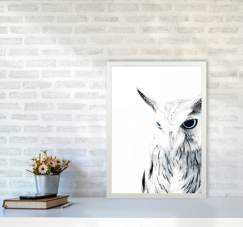 Owl I Photography Print by Victoria Frost A2 Oak Frame