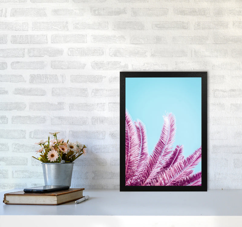 Pink Palm Trees Photography Print by Victoria Frost A3 White Frame