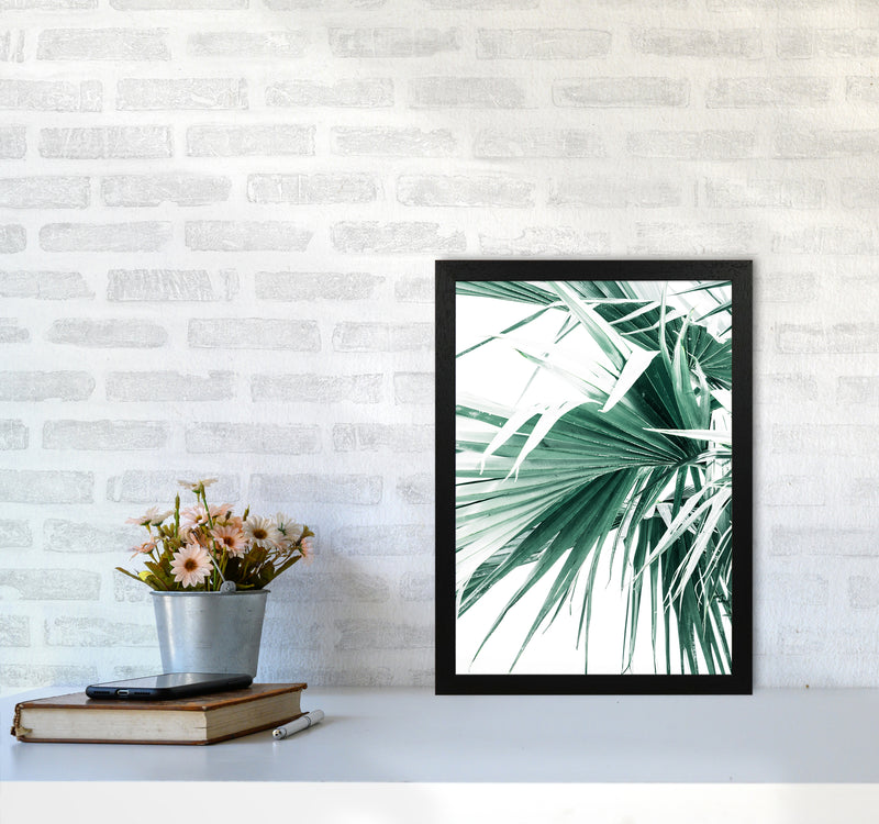 Palm Leaves Photography Print by Victoria Frost A3 White Frame