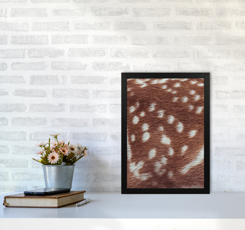 Deer skin Photography Print by Victoria Frost A3 White Frame
