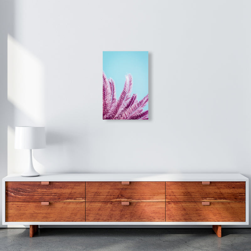 Pink Palm Trees Photography Print by Victoria Frost A3 Canvas
