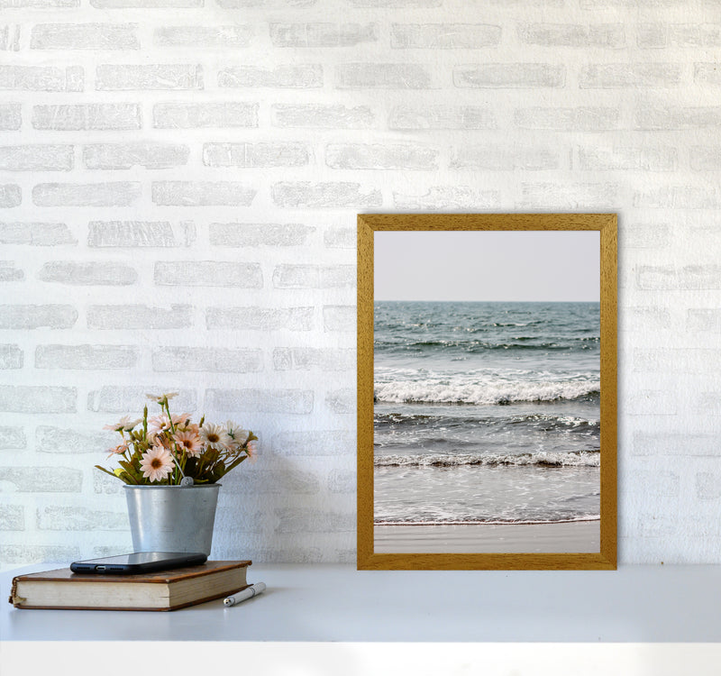 Blue Beach Waves Photography Print by Victoria Frost A3 Print Only
