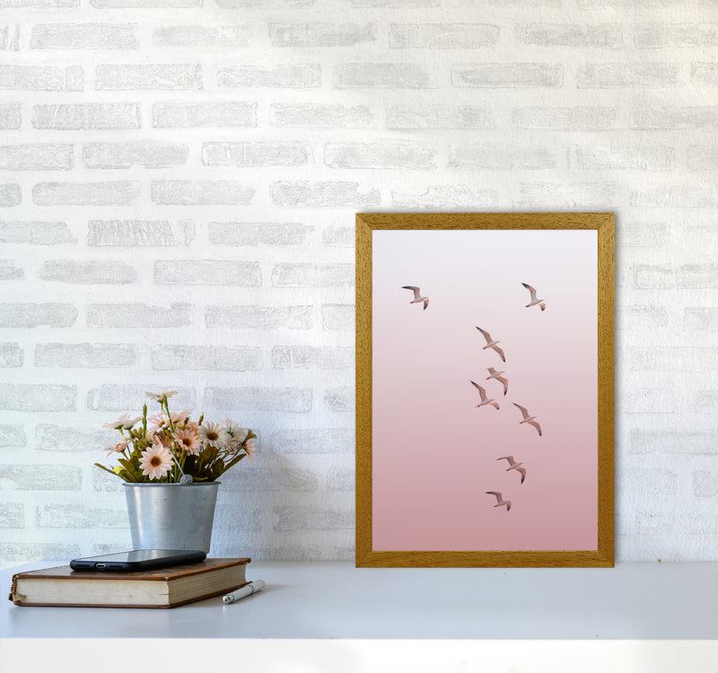 Birds in the Sky-pink Photography Print by Victoria Frost A3 Print Only