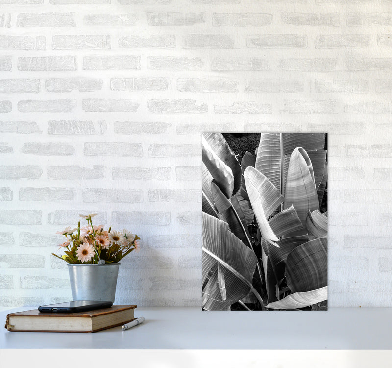 Palms Leafs Photography Print by Victoria Frost A3 Black Frame