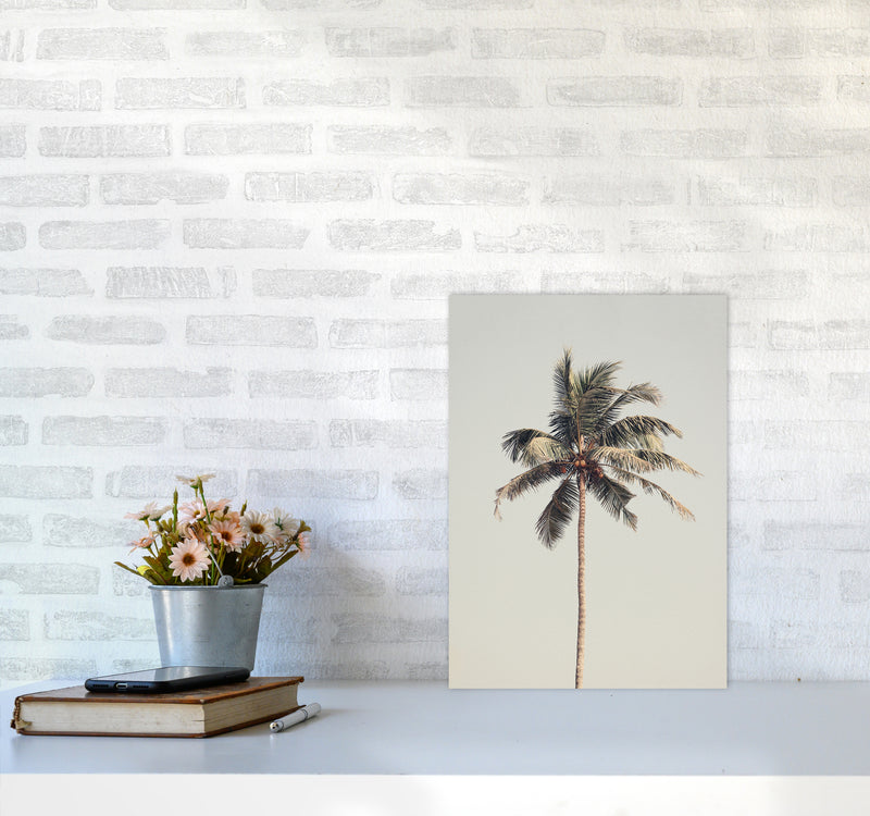 Palm tree by the beach Photography Print by Victoria Frost A3 Black Frame
