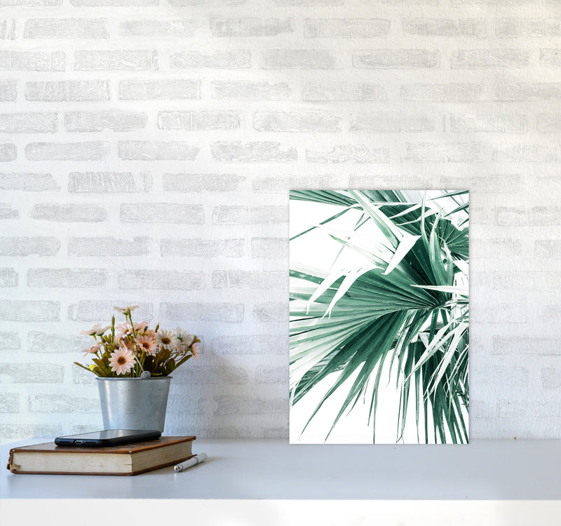 Palm Leaves Photography Print by Victoria Frost A3 Black Frame